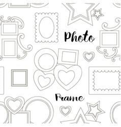Photoframe set pattern vector