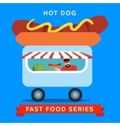 Sale of fast food vector