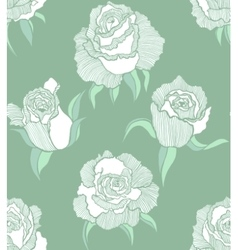 seamless tender background with white roses vector image vector image