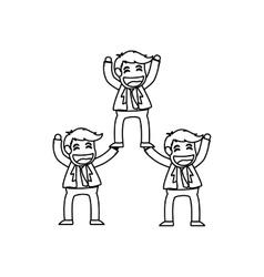 Successful businessman cartoon vector image