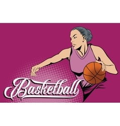 Summer kinds of sports Basketball vector image