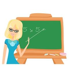 teacher at the blackboard vector image