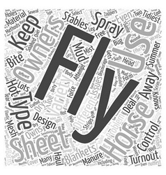 The different types of fly sheets word cloud vector