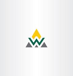 triangle logo letter w symbol vector image vector image