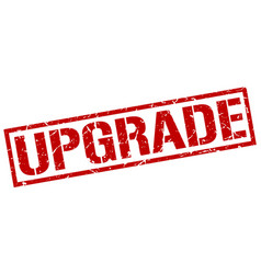 upgrade stamp vector image vector image