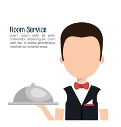 waiter hotel service isolated vector image vector image