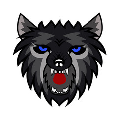 wolf logo team vector image