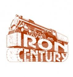 iron century grunge vector image