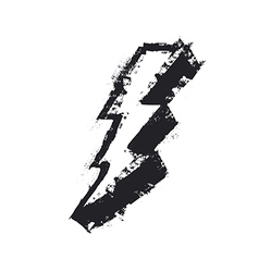 Lightning bolt grunge icon thunderbolt lev vector