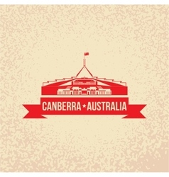 Parliament House the symbol of Canberra Australia vector image