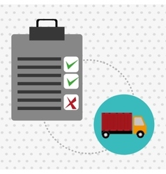 clipboard check list shipping vector image
