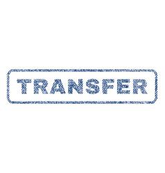 Transfer textile stamp vector