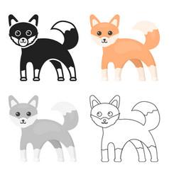fox icon cartoon singe animal icon from the big vector image