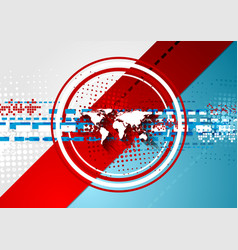 Red and blue corporate technology background vector