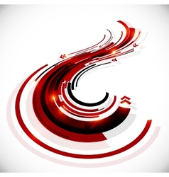 Abstract black and red perspective background vector