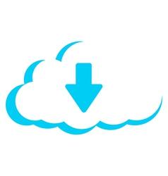 cloud storage download vector image