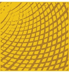 Yellow grid grunge texture vector