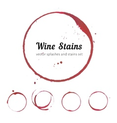 Wine stain circles vector
