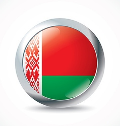 Belarus flag button vector image