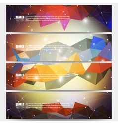 Set of modern banners abstract vector