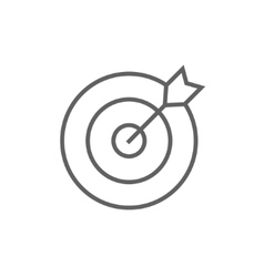 Target board and arrow line icon vector