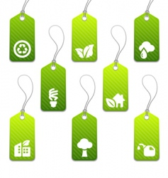 Eco tags vector