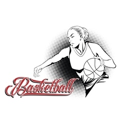 Summer kinds of sports basketball vector