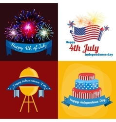 Happy fourth of july independence day vector
