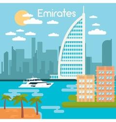 Burj al arab hotel dubai urban cityscape dubai vector