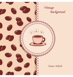 Vintage coffee background vector