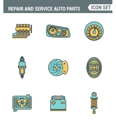 Icons line set premium quality of repair and vector
