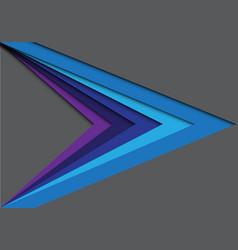 abstract blue tone color arrow gray vector image