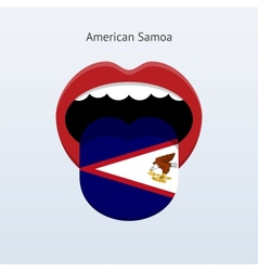 American samoa language abstract human tongue vector