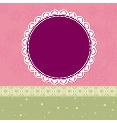 Arabesques Pattern Frame vector image