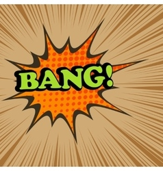 Bang comic text vector image vector image