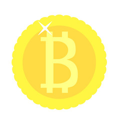 bitcoin coin golden isolated vector image