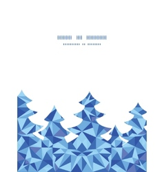 Blue triangle texture christmas tree silhouette vector