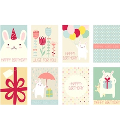 Collection of birthday banners vector image