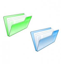 computer folder icon vector image vector image