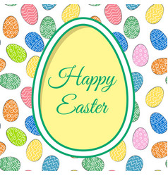 Easter eggs and greetings vector