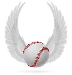 Flying baseball vector image