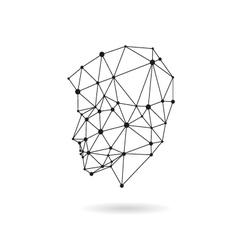 Geometric face design silhouette vector