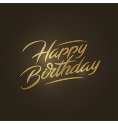 Happy birthday brush script style hand lettering vector image vector image