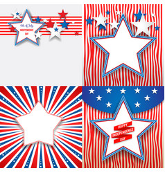July fourth holiday stars vector