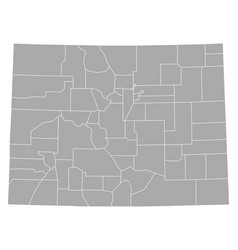 map of colorado vector image