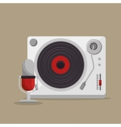 Player music vinyl isolated icon vector