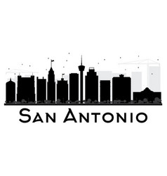 san antonio city skyline black and white vector image
