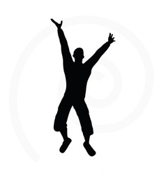 senior climber man silhouette vector image