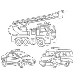 set of special transport vector image