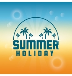 Summer design palm tree over circle icon vector image